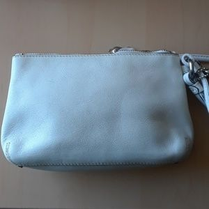 Coach Bags - Coach White Leather Wristlet